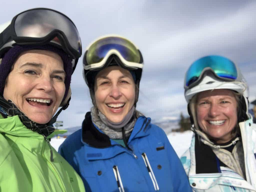 Benefits of learning to ski over age 50 - new friends